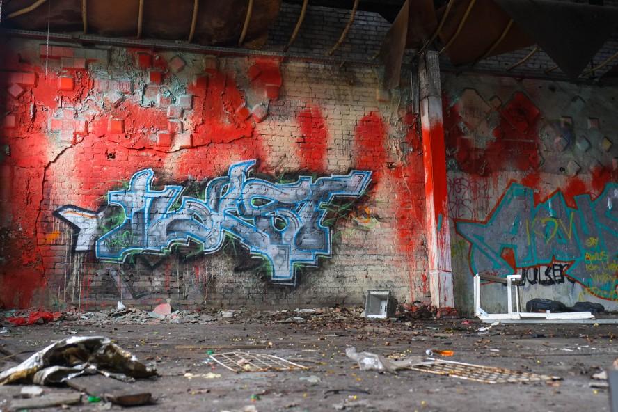 graffiti, horst