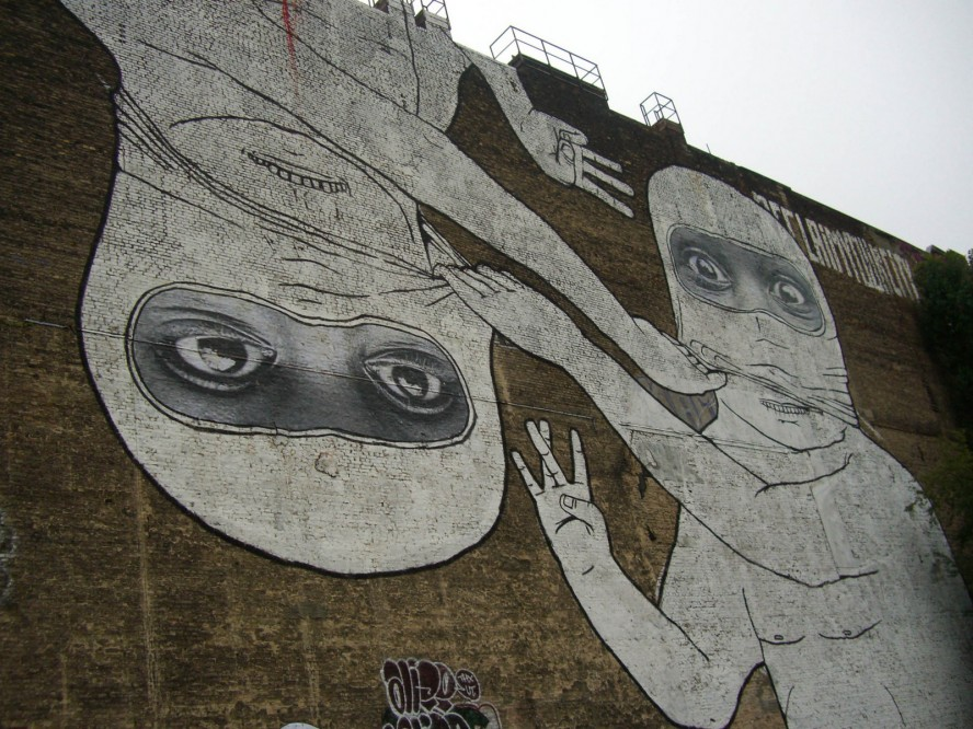 blu + jr mural - cuvrystrasse / aug 2007