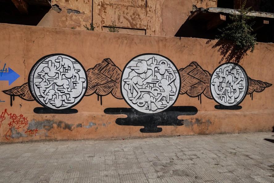 mural - marcus aurelius - boulevard mohamed zerktouni