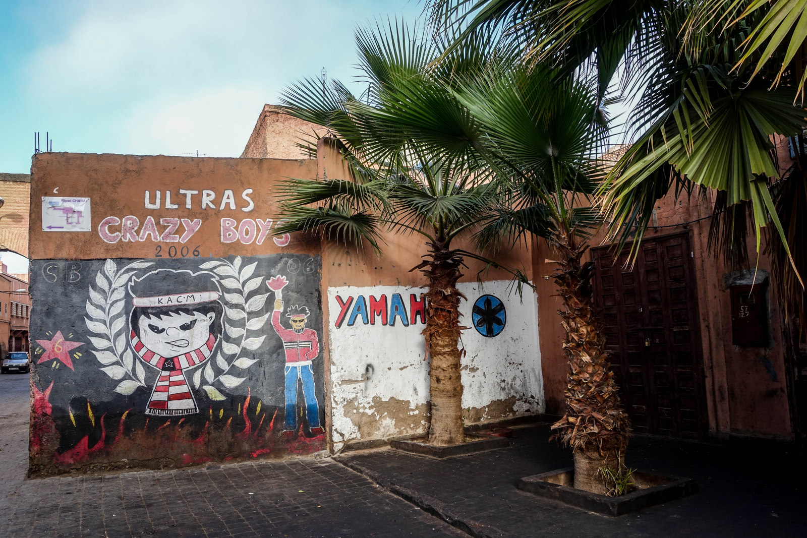 """crazy boys"" murals in marrakesch"