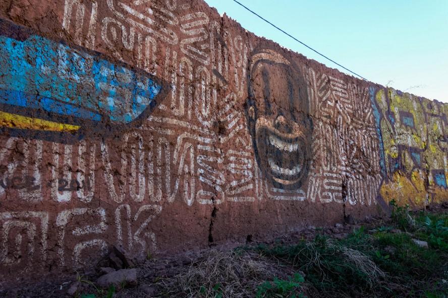 jardin rouge - marrakech - graffiti Vitaly Rusakov