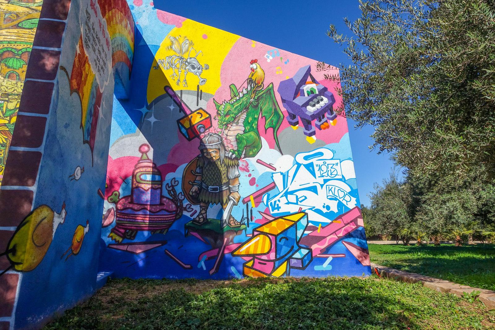 Jardin rouge garten mit murals und graffitis urbanpresents for Mural jardin