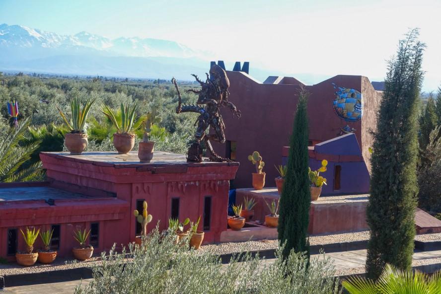 jardin rouge - marrakech - streetart