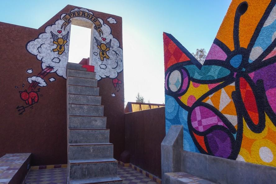 jace, krito - jardin rouge - marrakech - streetart