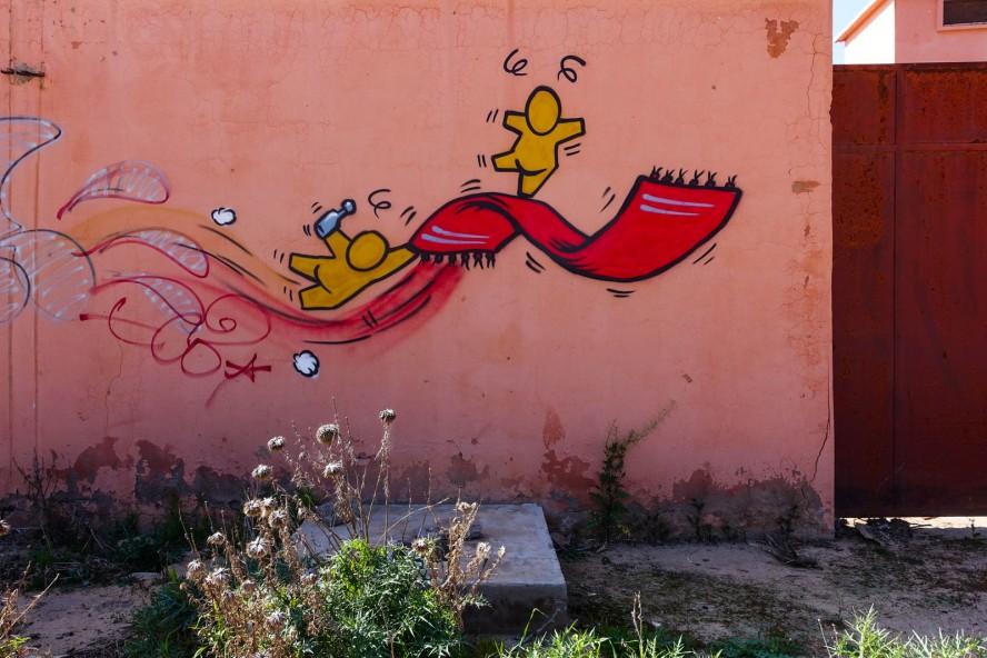 jace - jardin rouge - marrakech streetart