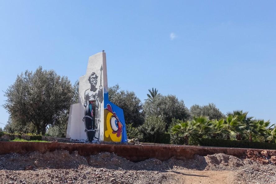 kouka, ceet - jardin rouge - marrakech - streetart