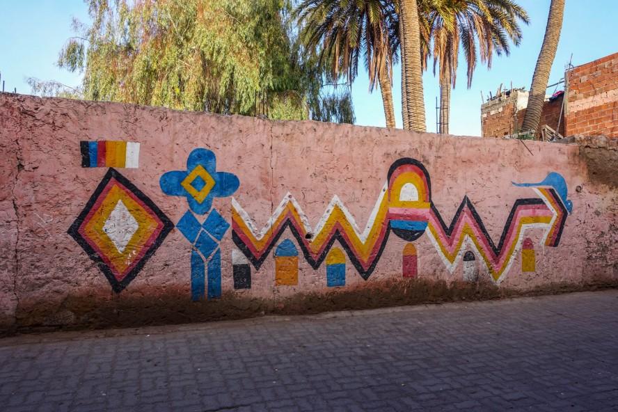 streetart rue kbour chou marrakech