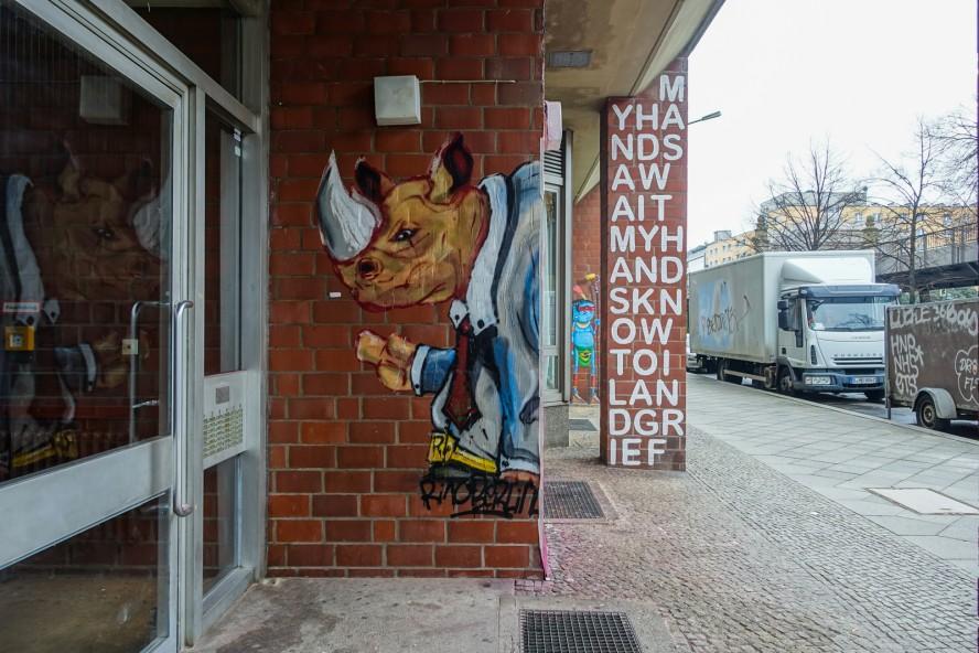 streetart | rino berlin | urban nation . bülowstrasse - berlin