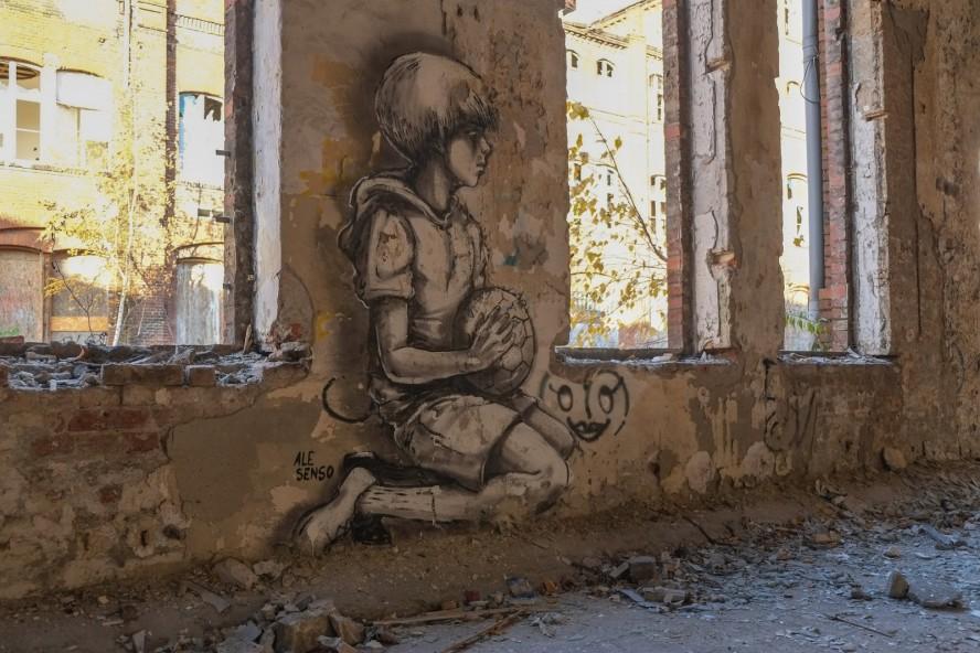 streetart - ale senso - veb rewatex / schindler berlin köpenick