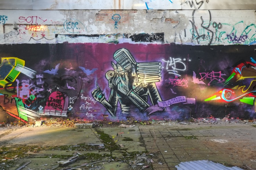 graffiti - razon - urbex - kabelwerk oberspree - berlin köpenick