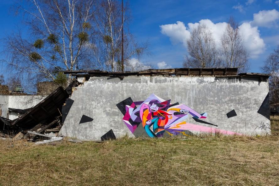 graffiti - kase - geisterstadt vogelsang - verlassene russische kaserne