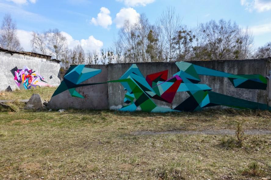 graffiti - geisterstadt vogelsang - verlassene russische kaserne