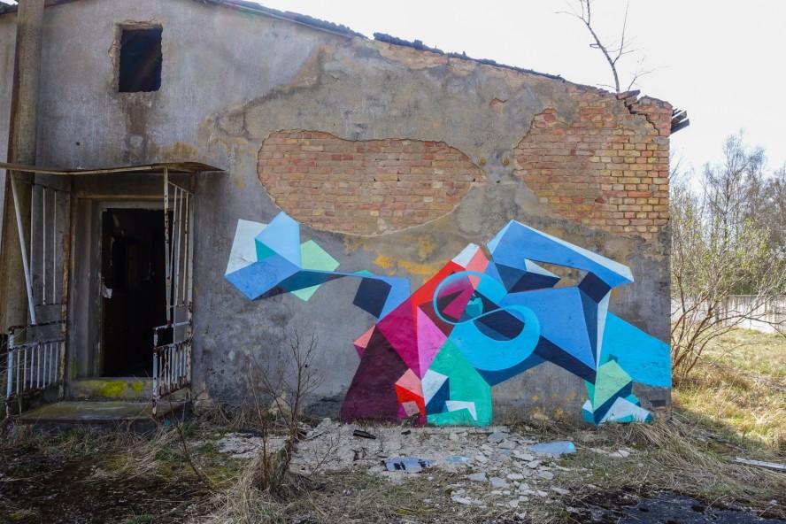 graffiti - kase ? - geisterstadt vogelsang - verlassene russisch