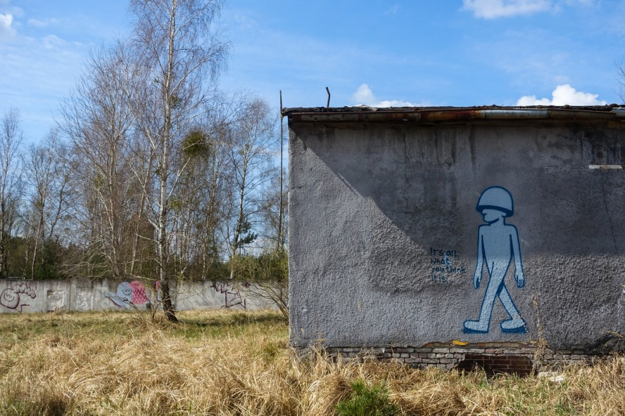 streetart - geisterstadt vogelsang - verlassene russische kaserne
