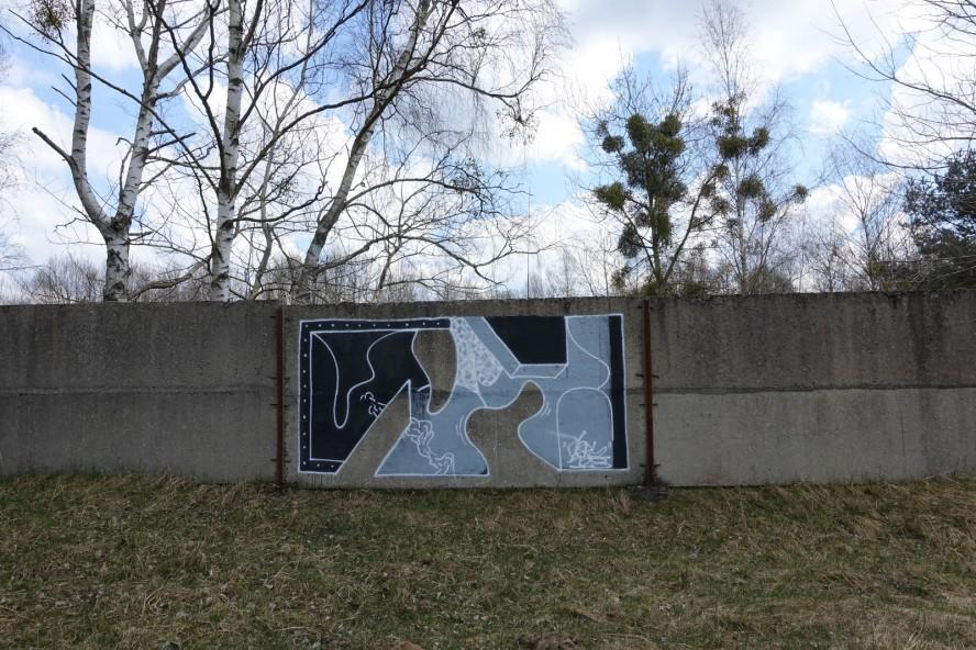 graffiti - klub7 - geisterstadt vogelsang - verlassene russische