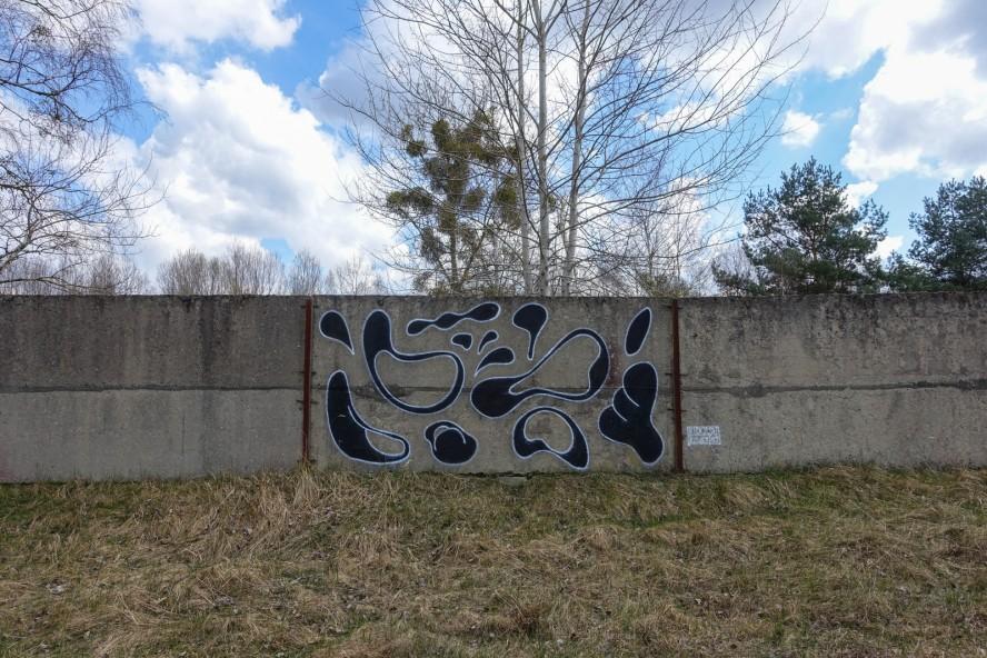 graffiti - kidcash / klub7 - geisterstadt vogelsang - verlassene russische kaserne