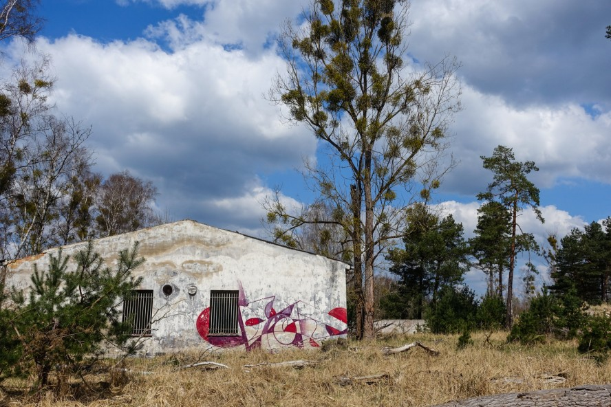 graffiti - kase - geisterstadt vogelsang - verlassene russische