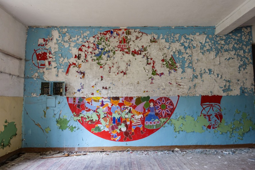 original mural - geisterstadt vogelsang - verlassene russische kaserne
