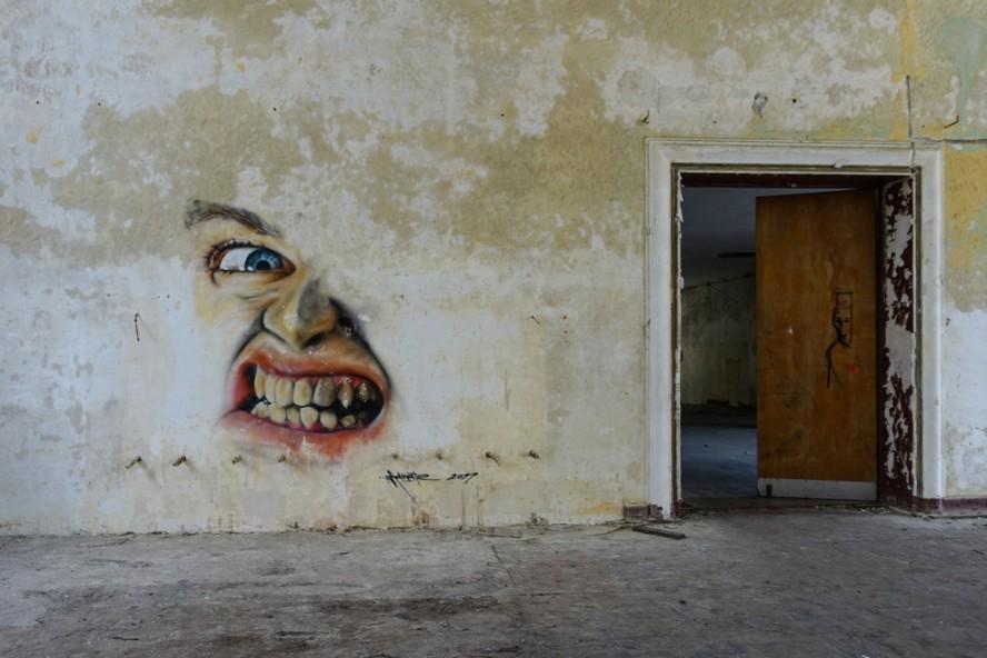 graffiti - adnate - geisterstadt vogelsang - verlassene russisch