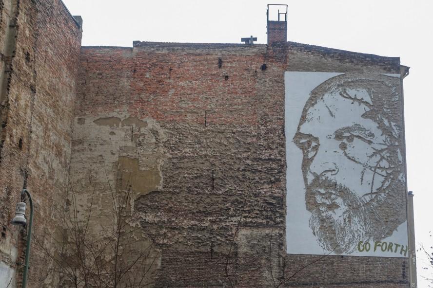 mural - vhils - gleisdreieck / yorkstrasse . berlin