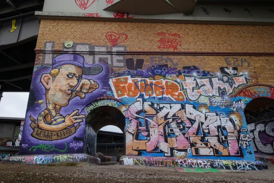 graffiti - lolli king / seto - gleisdreieck / yorkstrasse . berlin