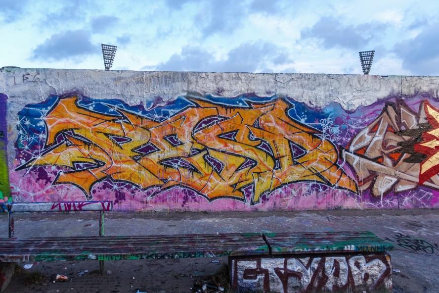 graffiti - pesd - mauerpark . berlin . januar 2015