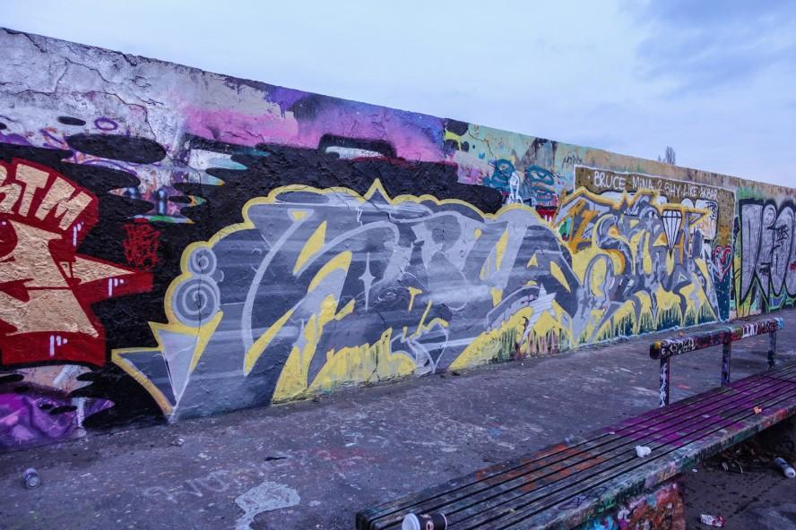 graffiti - thc - mauerpark . berlin . januar 2015