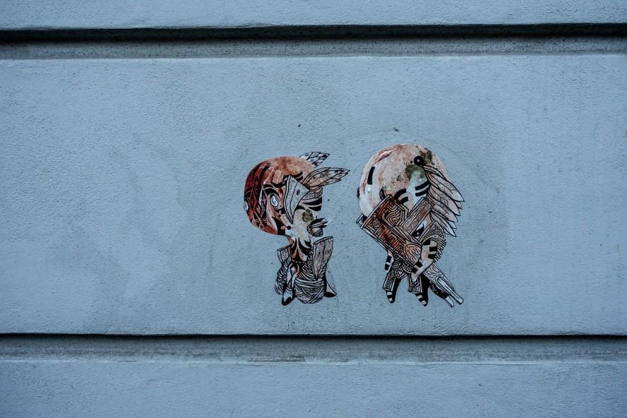 paste up - streetart - sam crew - oderberger strasse . berlin