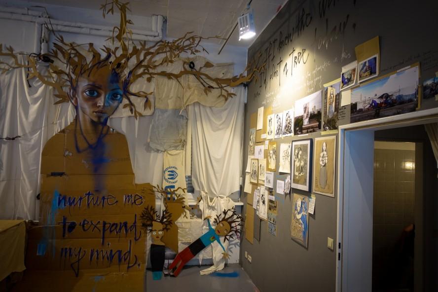 """Displaced Thoughts"" ausstellung - herakut - berlin, urban nation"