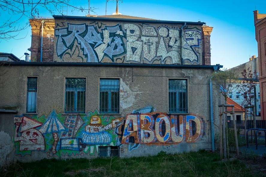 graffiti - aboud / trafo / bolt - weissensee