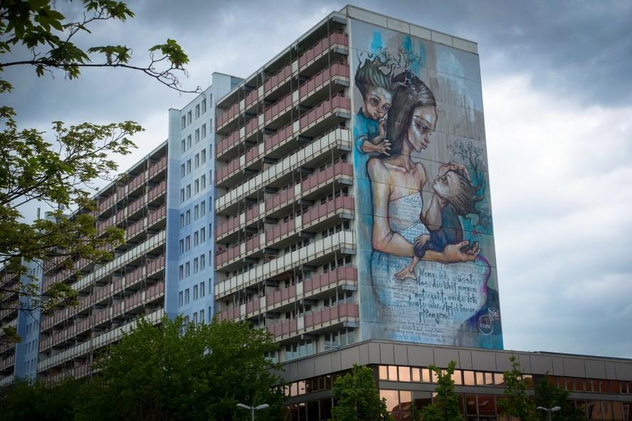 mural - herakut - urban nation - berlin, greifswalder strasse