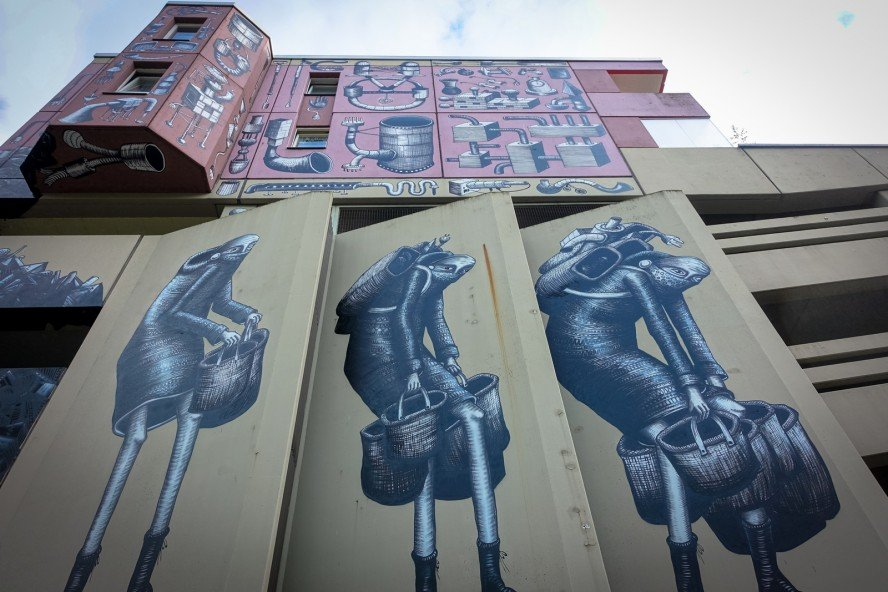 mural - phlegm for one wall project - berlin, urban nation