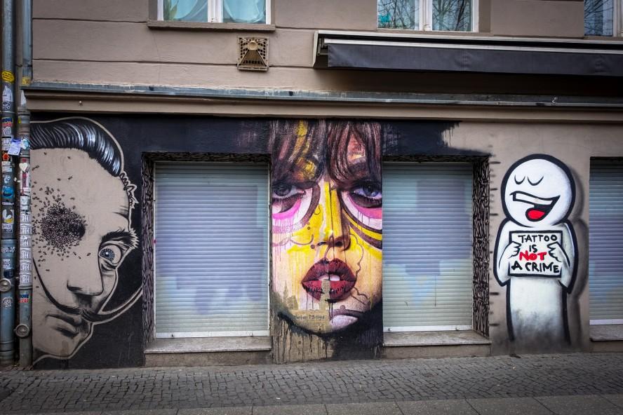 streetart - prost , flocke art, ?? - schönhauser allee, berlin