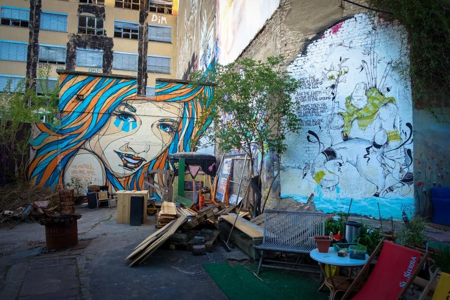 streetart - el bocho & zaho nero . yaam, berlin