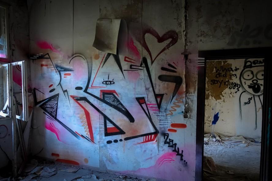 grafitti - urbex - ehemaliges kinderklinik - weissensee