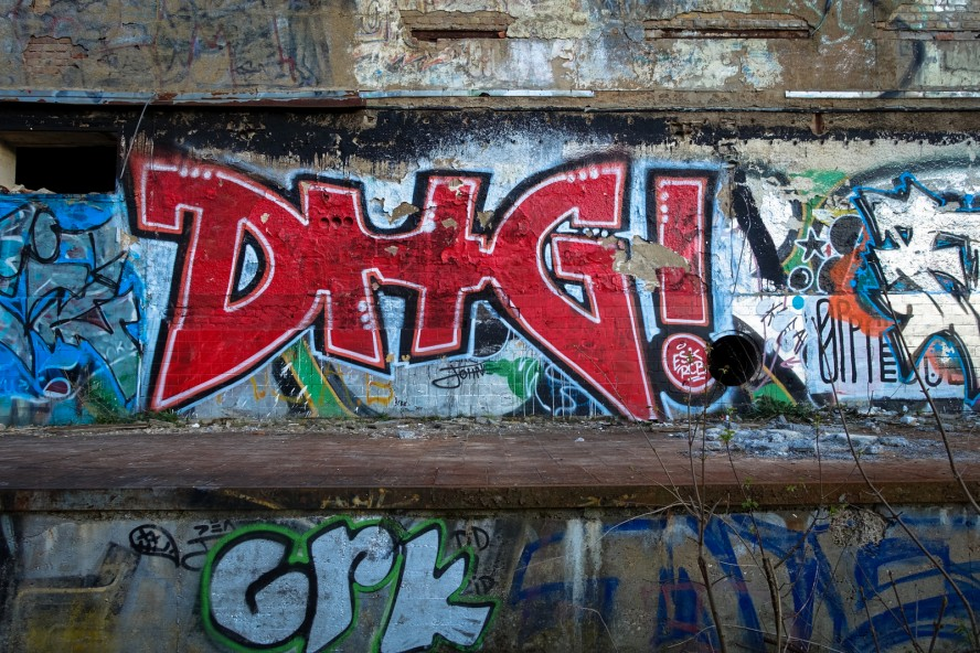 graffiti - dhg - urbex - ehemaliges kinderklinik - weissensee