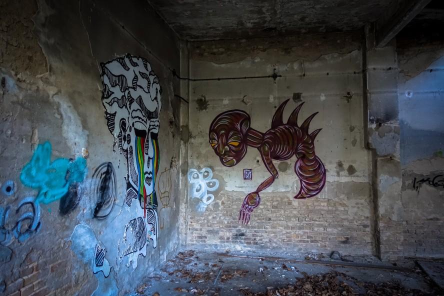graffiti - tm - urbex - ehemaliges kinderklinik - weissensee