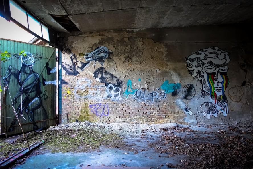 streetart - urbex - ehemaliges kinderklinik - weissensee