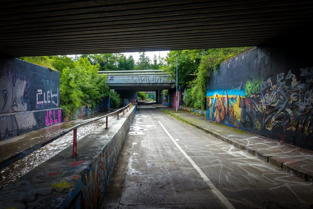graffiti - prag, hlubočepy