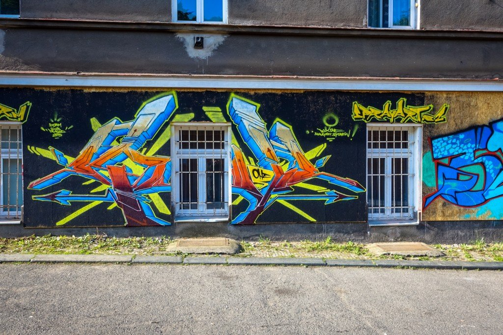 graffiti - prag, husitská, storm club