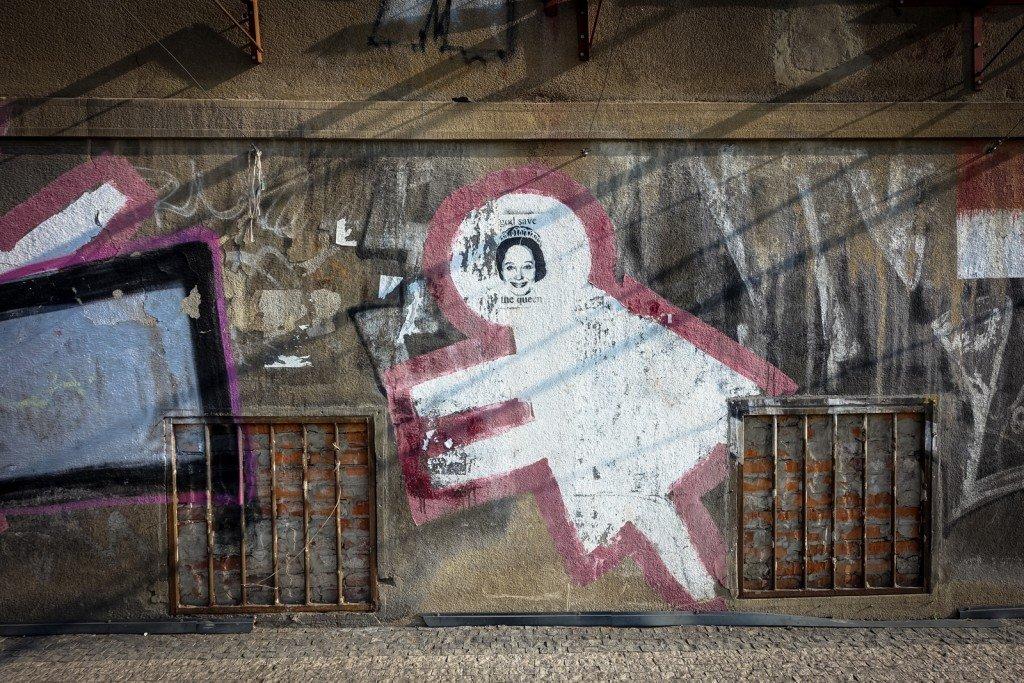 streetart - prague, milady horákové