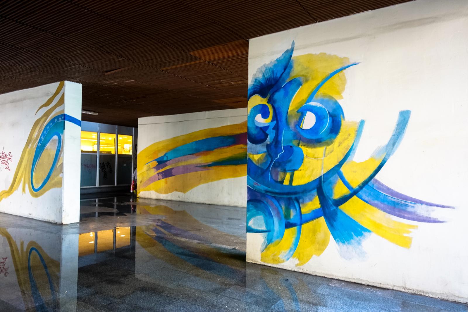 streetart in prag: táboritská