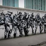 "stencil - banksy ""legal team"" - shanghai"