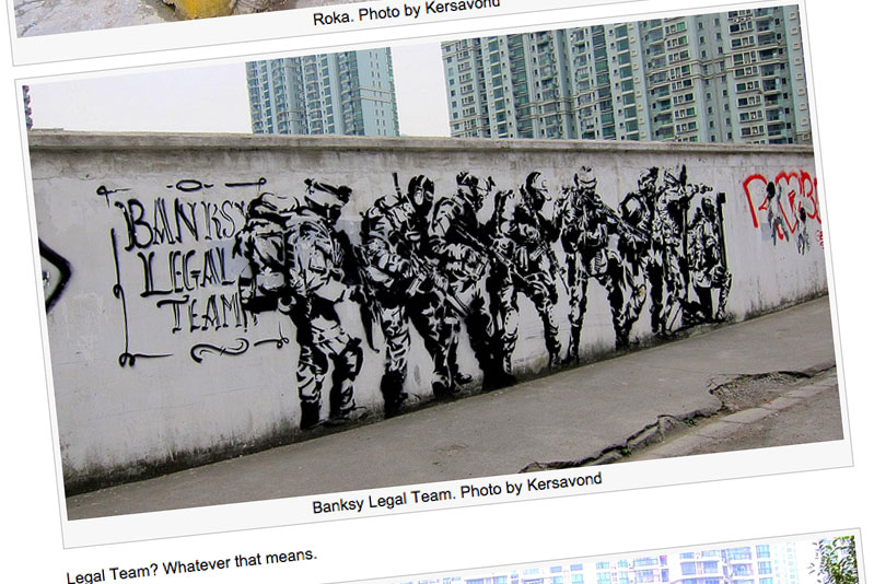 vandalog blog with urbanpresents pictures of streetart in shanghai
