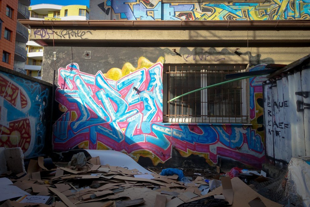 graffiti - prague, trafačka
