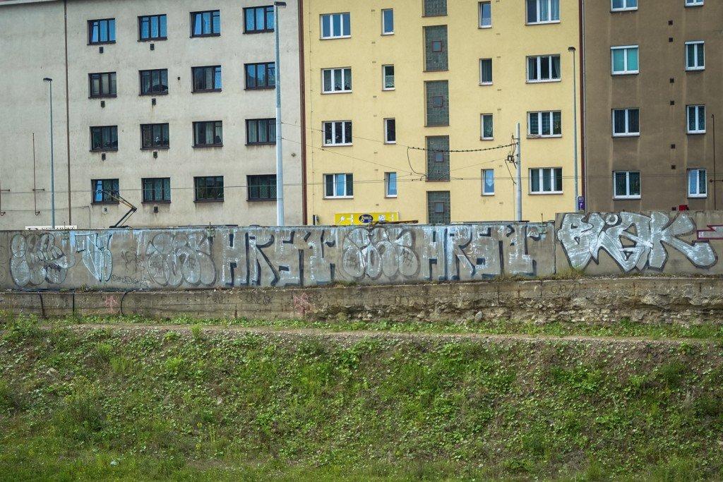 graffiti - gee, hrst, blak - prague, kolbenova