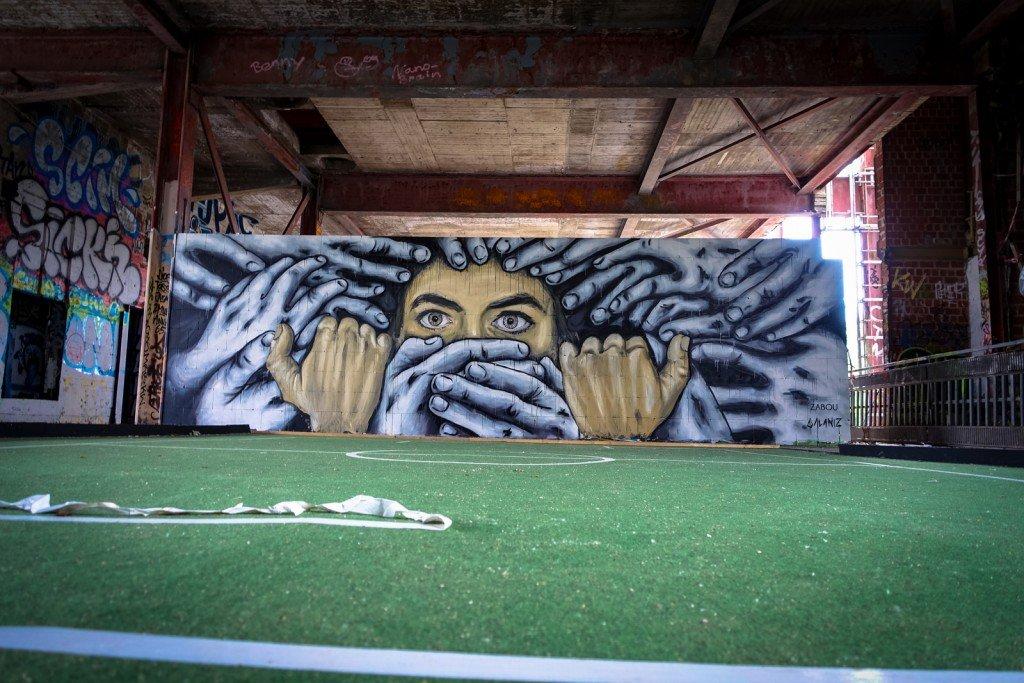 urban art - zabou & alaniz - berlin, teufelsberg