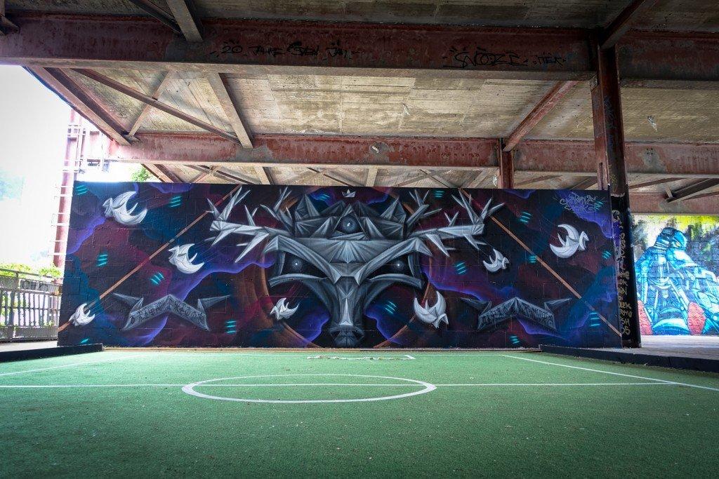 graffiti - airborne mark - berlin, teufelsberg