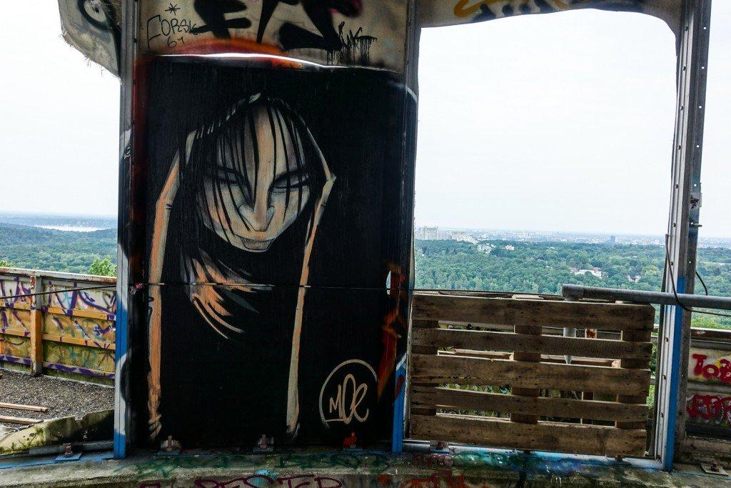 graffiti - moe - berlin, teufelsberg