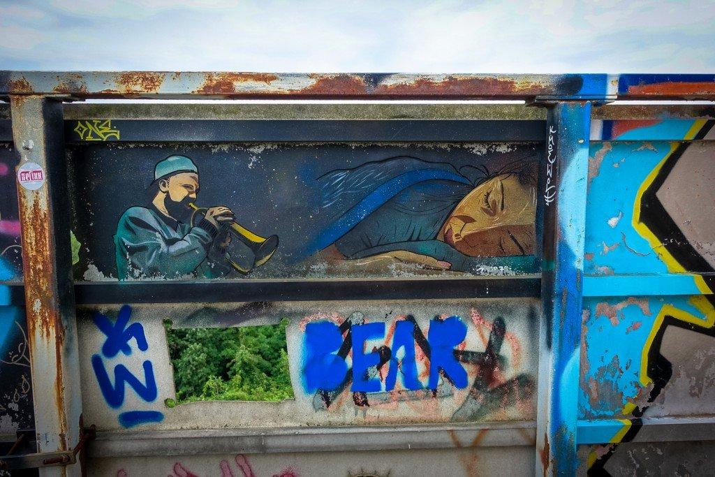 urban art - moe - berlin, teufelsberg